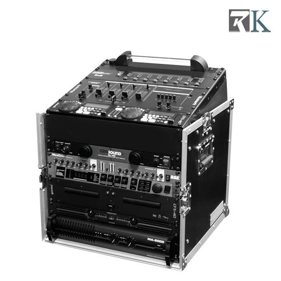 16U Mixer Rack Cases with twin tables for DJ equipment 3