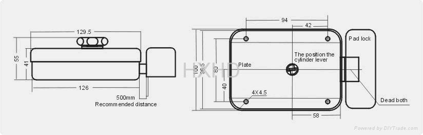 聯網型一體化門禁電控鎖 2