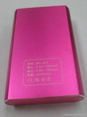 power bank/mobile phone charger with 7200mah capacity