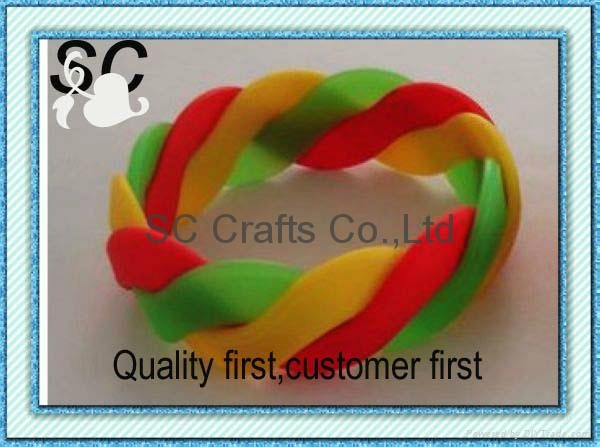 Fashion interlink silicone bracelet  3