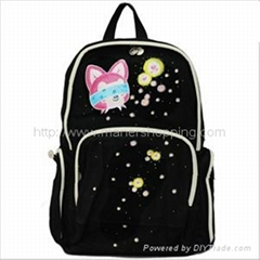 backpack with hand painted pictures