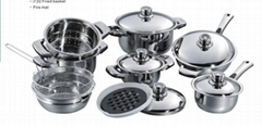 16pcs stainless steel cookware set