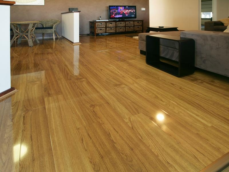 polished laminate flooring
