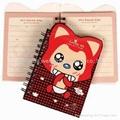 2012 hot-sale promotional cute spiral notebook  1