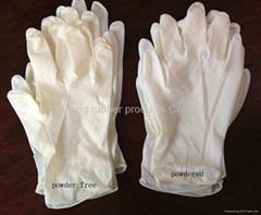 latex  medical exam gloves