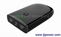 Mobile phone double USB mobile power supply