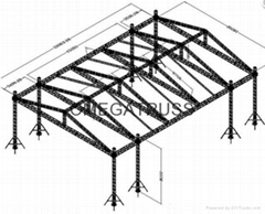 aluminum lighting stage truss system