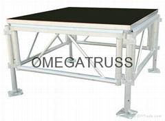 aluminum adjustable stage