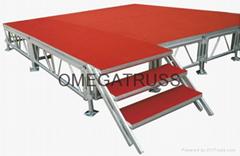 aluminum assemble stage