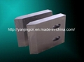 Fly shear blades for cutting rebar and
