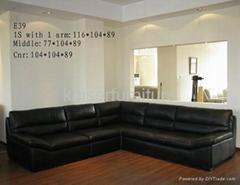 Stationary corner sofa