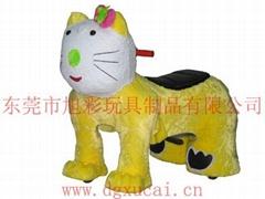 動物毛絨電動玩具車