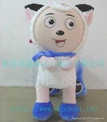 東莞旭彩喜羊羊毛絨玩具車
