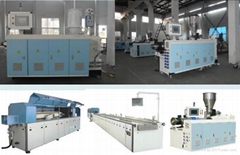 PVC seamless decoration panel extruding machine
