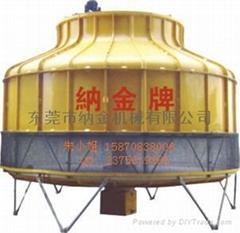 东莞纳金玻璃钢普通圆形冷却塔