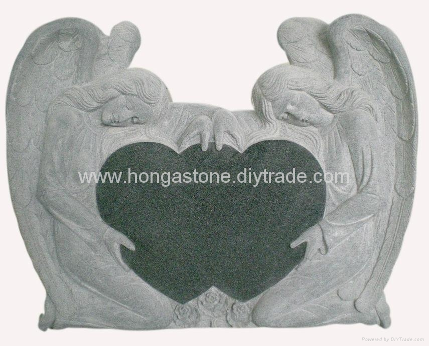 Granite Angel Tombstone and Monument / Headstone 1