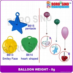Plastic Balloon Weight with 8 grams