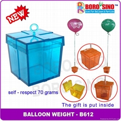 Plastic balloon weight with 70 grams