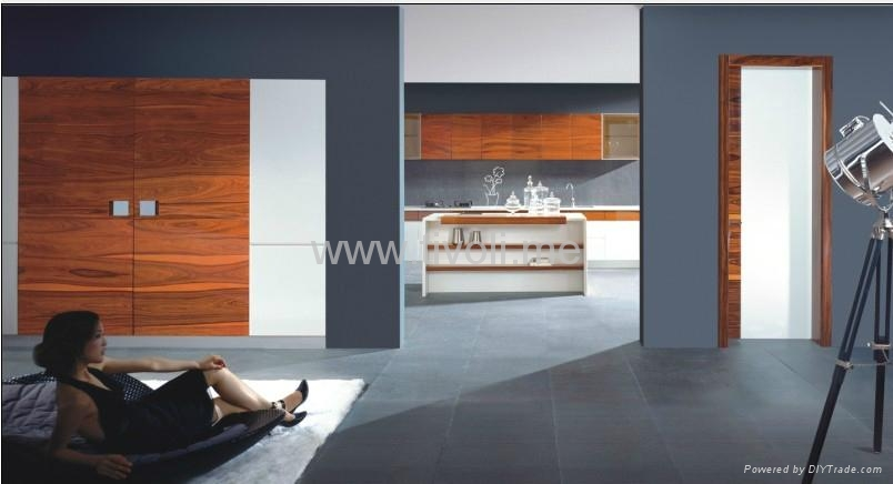 kitchen cabinets-high glossy, bright and durable 2