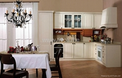 PVC cabinets for kitchen, classic design