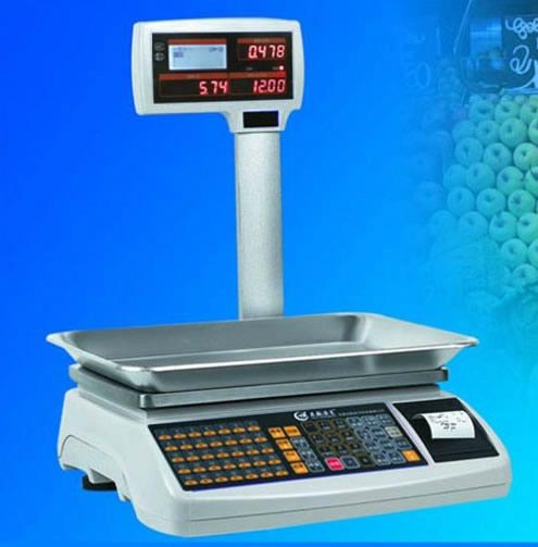 Electronic Cash price scale 1