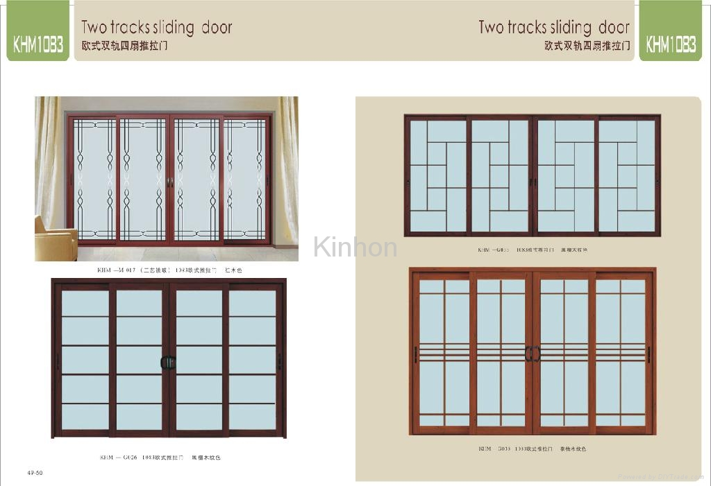 Aluminium sliding doors and windows china other doors for Buy new construction windows online