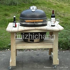kamado bbq grill outdoor kitchen/cabinet