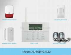 Home Intruder  PSTN & GSM Wireless alarm system LCD Icon exquisite