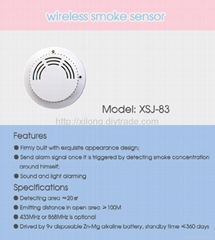 Wireless Smoke Alarm Sensor/Detector
