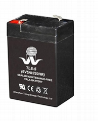 Emergency lighting battery