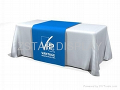 Dye sublimation fabric table cover   Custom printed table cloth   Table banners