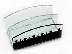 Glass Memo Holder