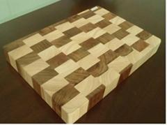 End grain wooden chopping board