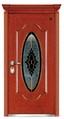 Steel-Wood Armored Door with Glass