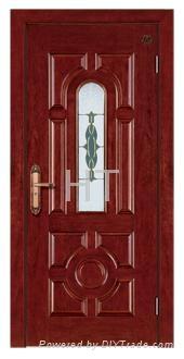 Steel Wood Armored Door 2
