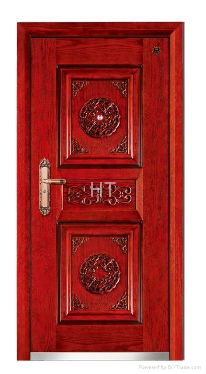 Steel Wood Armored Door 1