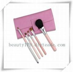 5pcs pink make up brush set