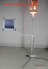 best iPad Floor holder (with Reading Lamp) KP-918 (Silver)