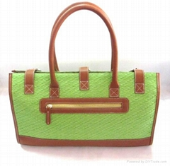 Green lady straw fashion high women