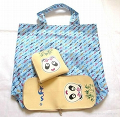 Cute polyester foldable shopping bag
