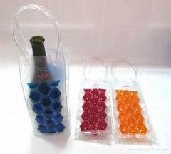 Clear fashion liquid pvc wine bottle bag