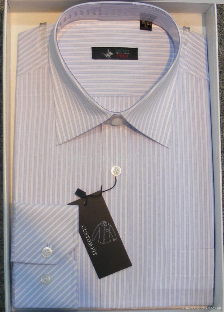 Men's cotton stripped dress casual shirt 3