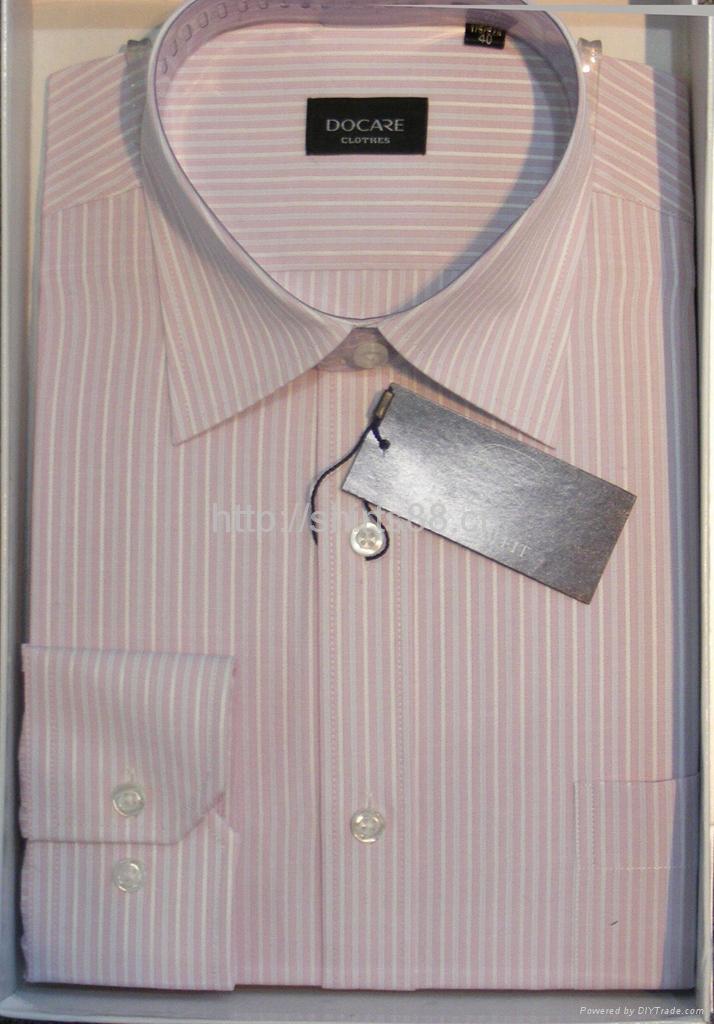 Men's cotton stripped dress casual shirt 4
