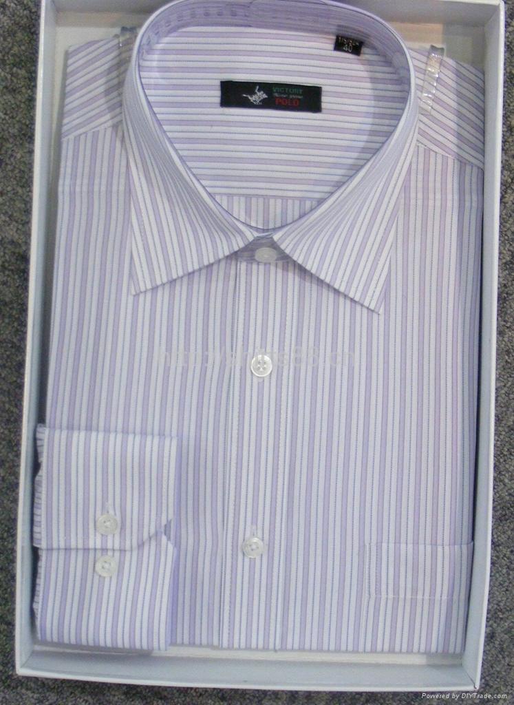 Men's cotton stripped dress casual shirt 1