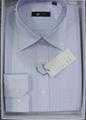 Men's cotton stripped dress casual shirt 5
