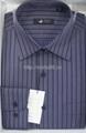 Men's cotton stripped dress casual shirt 2
