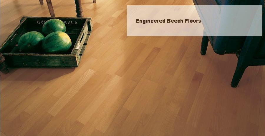 Engineered Beech Wood Flooring 2200x190x14mm Global Wood China