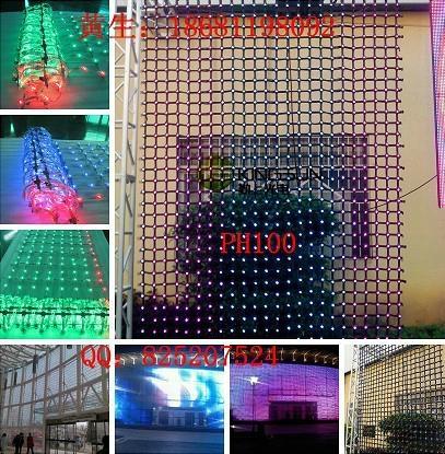 PH100柔性彩幕玻璃牆幕樓宇亮化LED顯示屏 1