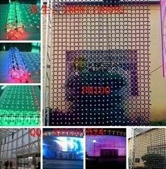 PH100 Flexible mesh curtain glass wall LED display