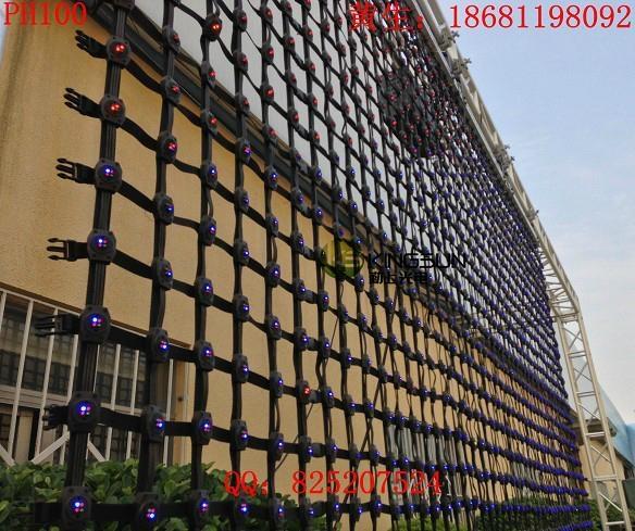 PH100柔性彩幕玻璃牆幕樓宇亮化LED顯示屏 3